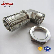 DIN standard SS316Ti stainless steel 6000psi hydraulic bulkhead elbow pipe fittings