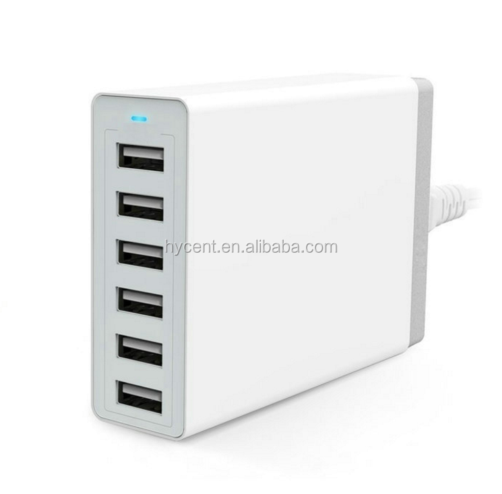 2016 Multifunction mobile phone accessories 6 ports usb wall charger usb adapter for huawei