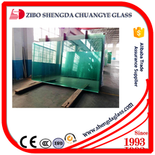 Shengda 19mm thickness 2134*3300mm clear float glass