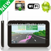 2012 7 inch tablet sim 3g bluetooth gps with capacitive screen and analog TV, WI-FI