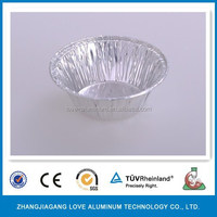 Pollution-free Recyclable Convenient Aluminum Foil Mini Muffin/Egg Tart Cups Disposable Muffin Cup Recycle Cup