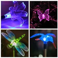 Solar dragonfly butterfly bird sunflower moon star light garden solar lawn light