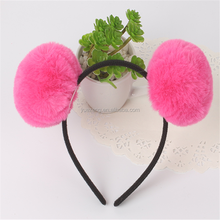 china supplier kids knitted headband/make kids headband/fur hairpin