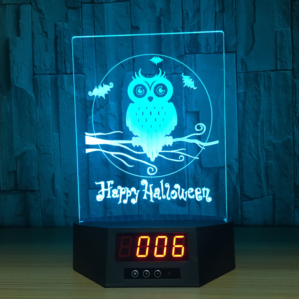 Zogift 3d lighting holiday home deco cute led light cube