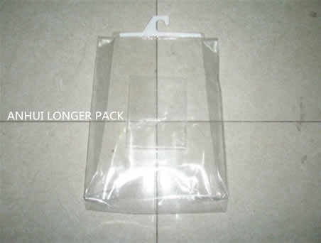 CL5027 Durable blanket storage bag clear pvc plastic hook bag with out pocket