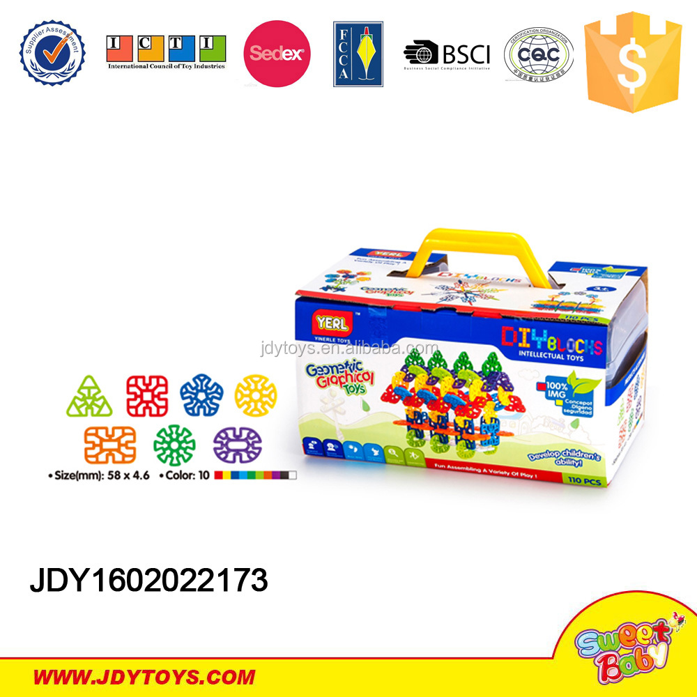 2015 New educational 340pcs snow blocks game kids educational plastic building blocks toys