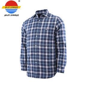 Wholesale Long Sleeve Warm Mens Plaid Shirts Men Flannel Shirt with Different Colors