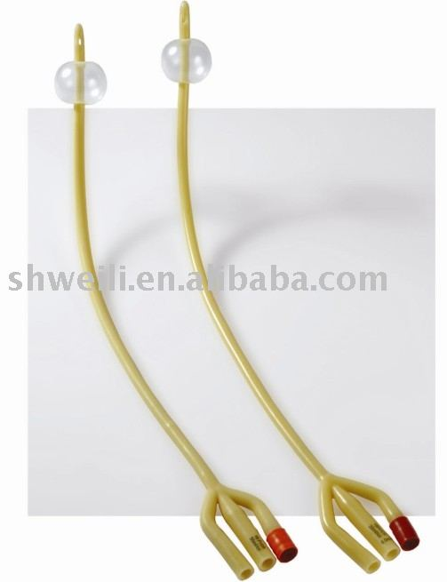 3-way Latex Foley Catheter silicone coated