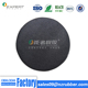Small round leather rubber coaster with logo printing customized