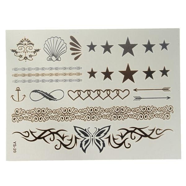 Custom Tattoo Sticker Type Temporary Glitter Tattoo