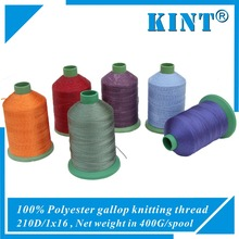 factory direct sell 100% polyester 250D/1x16 sofa gallop knitting thread