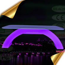2018 New Design RGB Color Changing LED <strong>Furniture</strong> / Glowing Outdoor LED Coffee Table with Lithium Battery