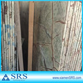 China polished rainforest green marble slab