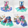 Cheap colorful long kerchief sublimation custom printed bulk 100% silk scarves