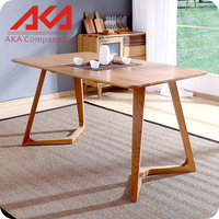 1.2 meter OAK dining table furniture 4 pcs dining table chair