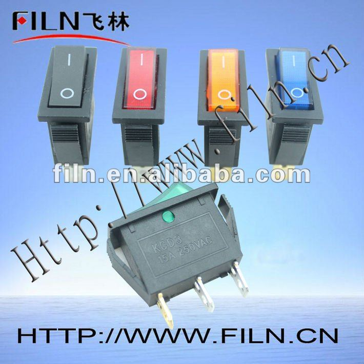 120v yellow light rocker switch 15A