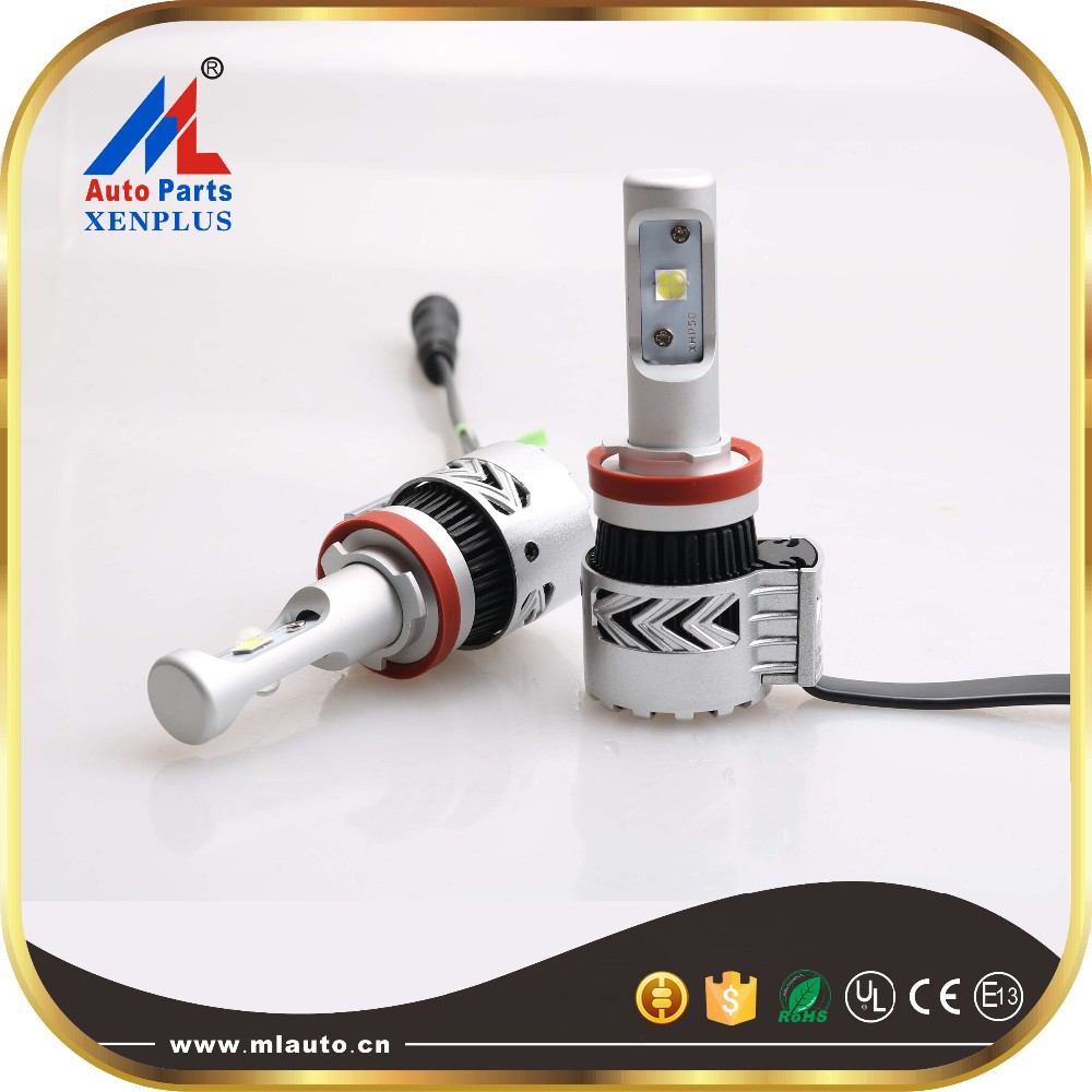auto double color temperature 9012 7200lm 40w car led headlight