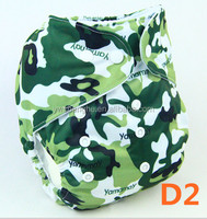 D2 YiWu ChangHe Manufacturer 100% Polyester +TPU Reusable Breathable Soft Reusable Baby Diapers Cloth