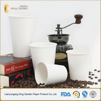 White Disposable 4 oz Mini Tasting Single Wall Hot Paper Cups