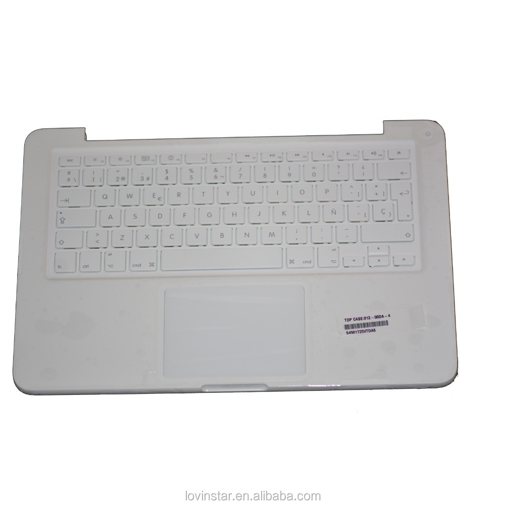 OEM manufacture laptop keyboard Spanish top case for macbook a1342