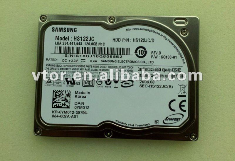 "HS122JC 120 GB 1.8"" ATA 5400 Hard Drive HDD"