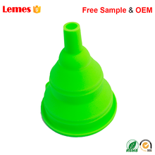 Colorful green yellow red threade square oil funnel kit for powder