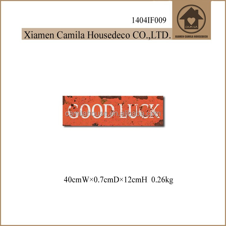 Retro Good Luck Handcrafted Custom Metal Hanging Signs