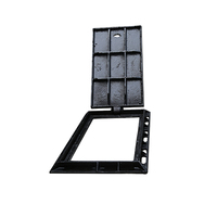 heavy duty en124 b125 square cast iron manhole cover with frames