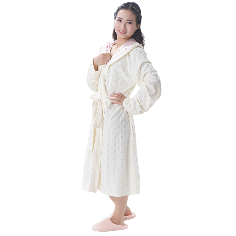 100% Polyester Cutting Womens Sexy Night gown Pic With Hood
