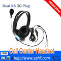 Hot RJ11/RJ9 Call center telephone headset with 3.5mm adapter