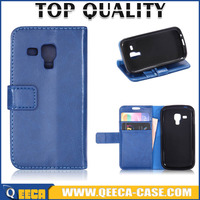 QEECA leather wallet case for Samsung Galaxy S Duos S7562 /S7580 flip cover case