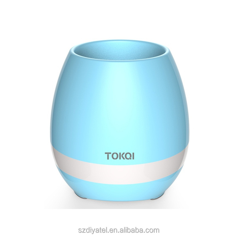 Clear Shoot Bluetooth Speaker Plastic Flower Pot for Home Office Living Decoration