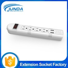 Top quality best material ul 6 outlet extension socket switch charger strip for usa outlet and usb port power strip