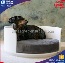 Clear round small pet bed acrylic clear cat bed pet bed