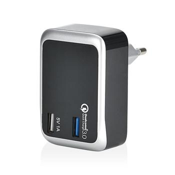 Kc CE Qualcomm Certified Dual Port High Power Quick Charge 3.0 quick Wall Charger Made In China
