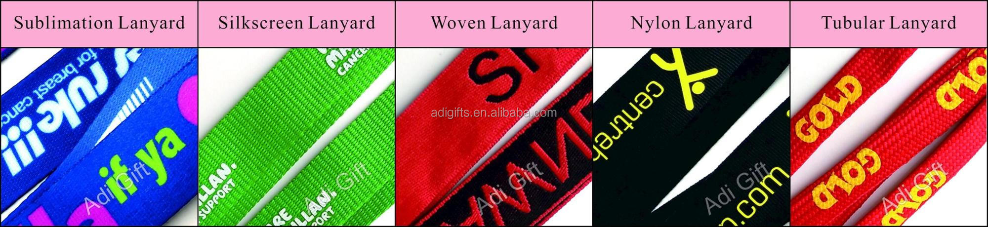 Newest design custom make one woven lanyards no minimum order