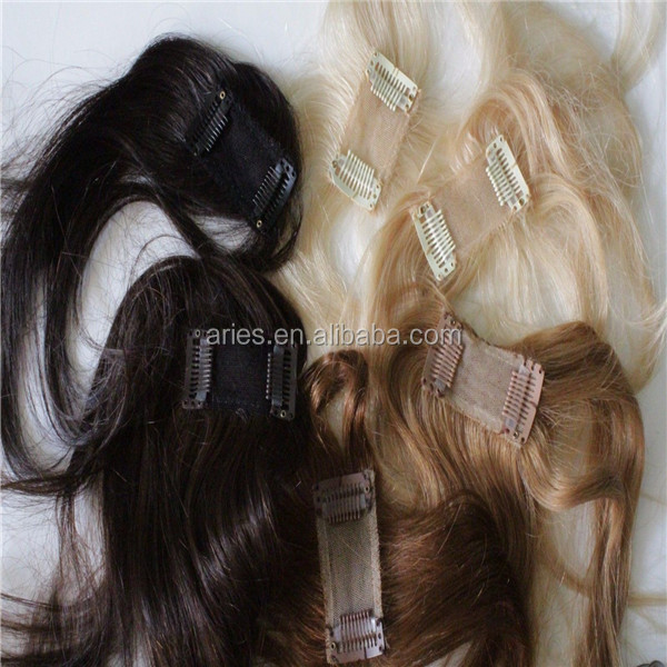 Women Lace Front Top Piece Toppers/Toupees Clip in/on Human Hair Extensions