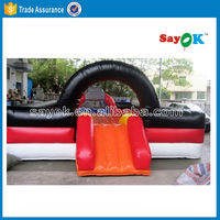 Commercial used inflatable bungee bouncer happy hop pro kick bouncer