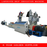 polyethylene pe water irrigation pipe making machine / labyrinth drip tape making machine