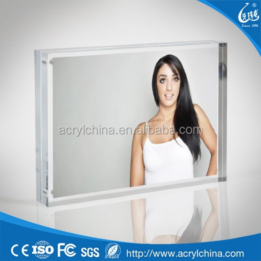 Customized plexiglass hot girl photo picture frames 24x36