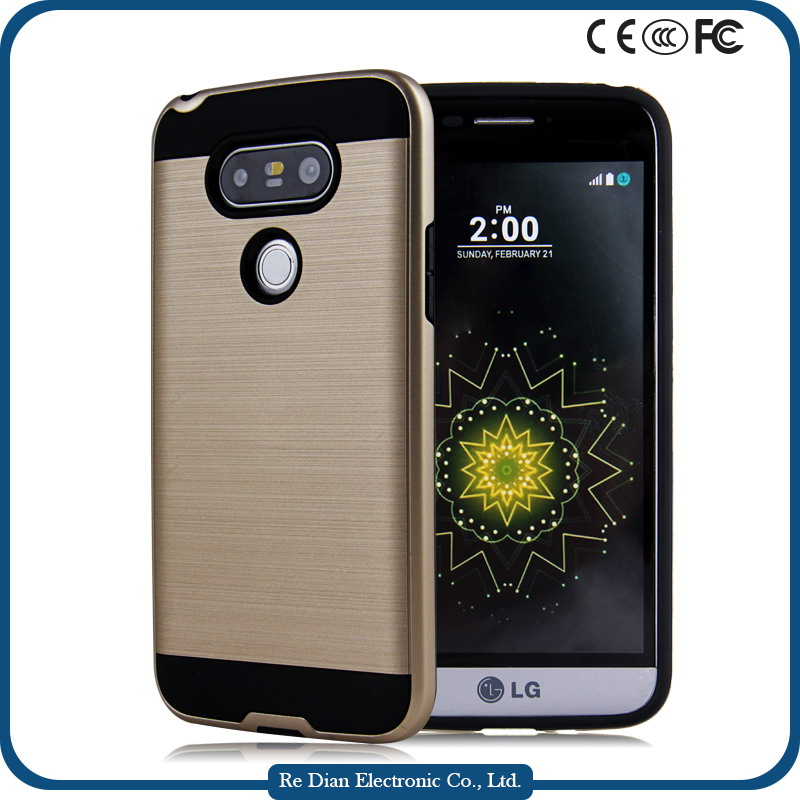 Wholesale 2 in 1 hybrid pc tpu aegis phone case shockproof combo phone case for LG G5