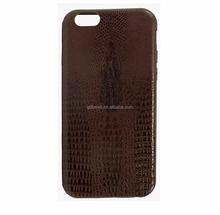 Luxury leather soft alligator skin premium PU flexible slim back shell case TPU bumper cover for iPhone 6s/ 6s plus