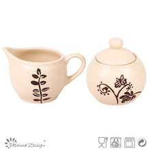 stoneware dinnerware sugar bowl coffee creamer container