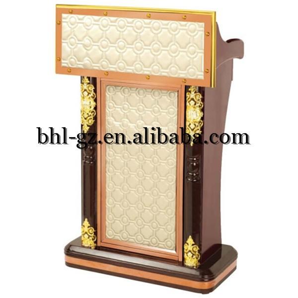 Guangzhou al por mayor en l nea hotel muebles de madera atril y el podio lujo p lpito faux cuero - Muebles atril ...