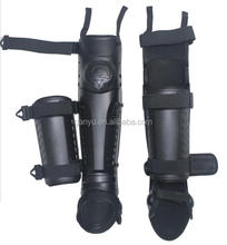 Military leg shin guard with flexible knee pad