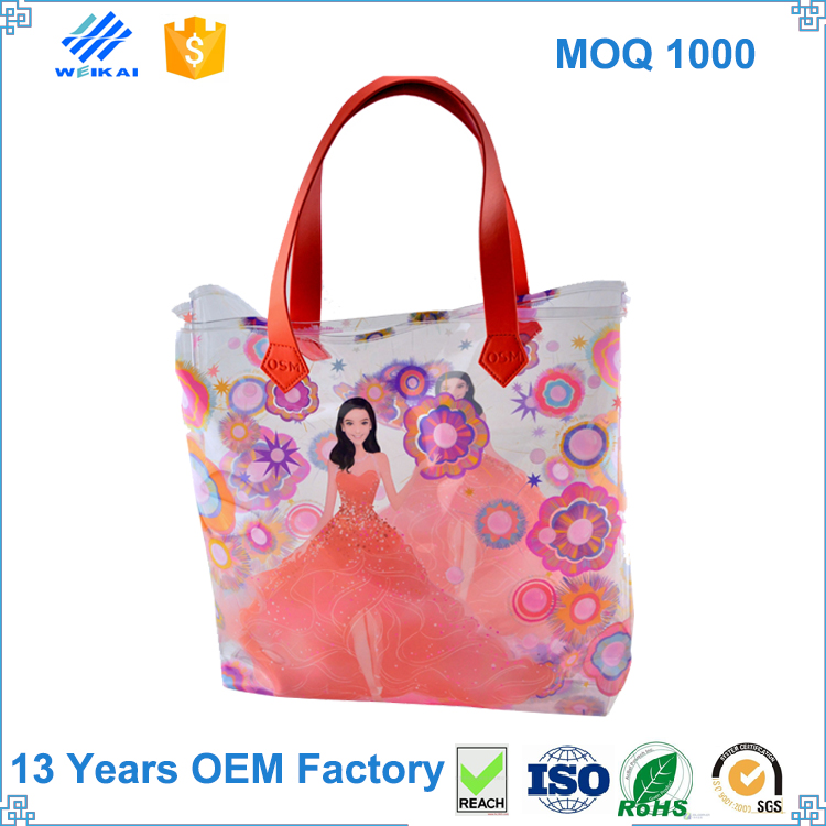 Waterproof Transparent PVC Bag Wholesale, Transparent PVC Back Pack Bag, Packaging PVC Clear Handbags