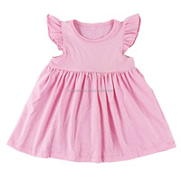 Wholesale cotton summer children's clothes breathable clothing baby girl dresses