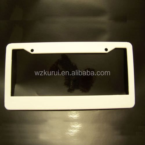 "US standard 12.25""x 6.25"" plastic custom license plate frame"