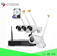 Full hd 1080p wifi wireless security ip camera 4 channel wifi nvr kit