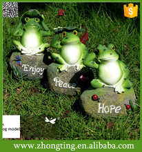 Tall Home Decor 3pcs/Set garden decorative stone garden ornaments frog